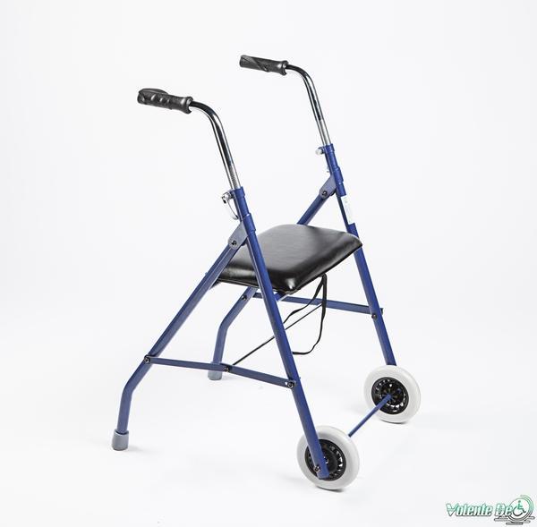 Staigulis ar 2 riteņiem un sēdekli - Ходунки с 2 колёсиками и сидением