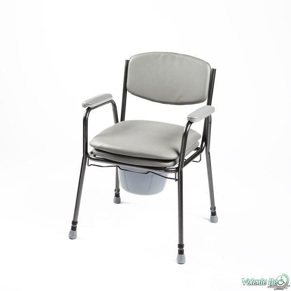 Tualetes krēsls ar polsterētu sēdekli - Туалетный стул с мягким сидением