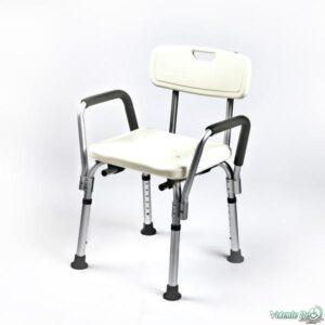 Dušas krēsls ar noņemamiem roku balstiem - Душевой стул со съёмными поручнями